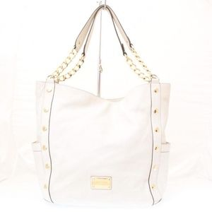 MICHAEL KORS Beige Leather Hobo Bag Item#9348